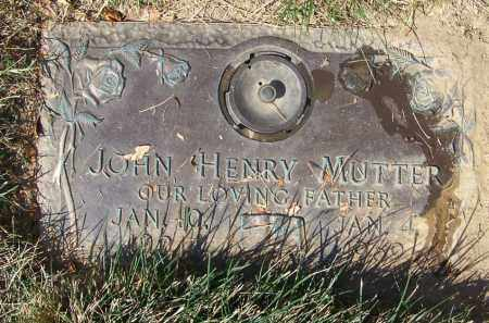 MUTTER, JOHN HENRY - Hamilton County, Ohio | JOHN HENRY MUTTER - Ohio Gravestone Photos