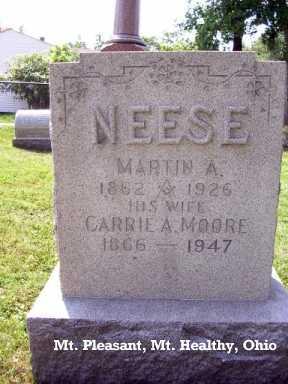MOORE NEESE, CARRIE ANN - Hamilton County, Ohio | CARRIE ANN MOORE NEESE - Ohio Gravestone Photos