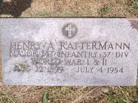 RATTERMANN, HENRY A. - Hamilton County, Ohio | HENRY A. RATTERMANN - Ohio Gravestone Photos