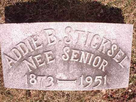 SENIOR STICKSEL, ADDIE - Hamilton County, Ohio | ADDIE SENIOR STICKSEL - Ohio Gravestone Photos