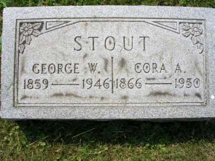 STOUT, CORA A. - Hamilton County, Ohio | CORA A. STOUT - Ohio Gravestone Photos
