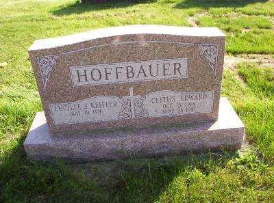 HOFFBAUER, CLETUS EDWARD - Hancock County, Ohio   CLETUS EDWARD HOFFBAUER - Ohio Gravestone Photos