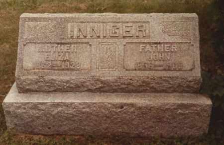 INNIGER, JOHN - Hancock County, Ohio   JOHN INNIGER - Ohio Gravestone Photos