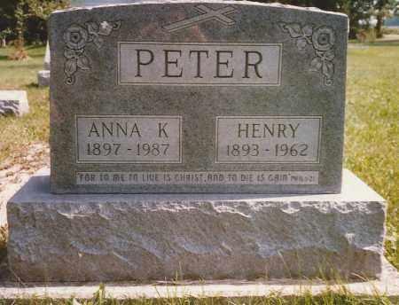 PETER, ANNA - Hancock County, Ohio   ANNA PETER - Ohio Gravestone Photos