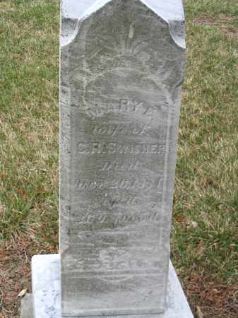 SWISHER, MARY E - Hancock County, Ohio   MARY E SWISHER - Ohio Gravestone Photos