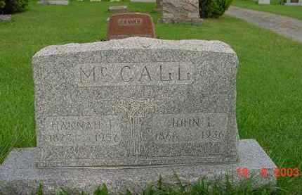 MCCALL, HANNAH T. - Hardin County, Ohio | HANNAH T. MCCALL - Ohio Gravestone Photos