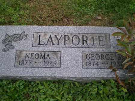 LAYPORTE, GEORGE B - Harrison County, Ohio | GEORGE B LAYPORTE - Ohio Gravestone Photos