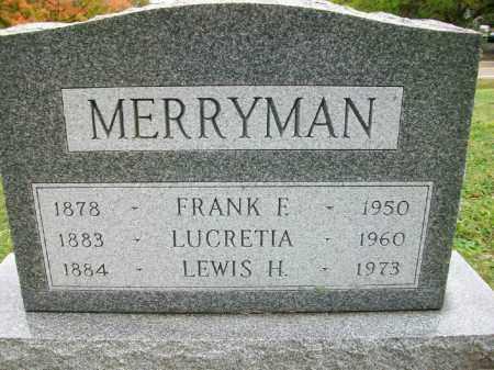 MERRYMAN, LUCRETIA DELLA - Harrison County, Ohio | LUCRETIA DELLA MERRYMAN - Ohio Gravestone Photos