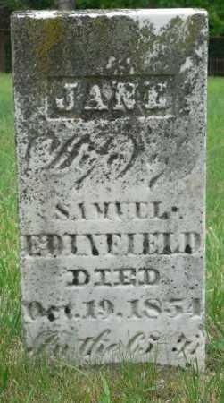 EDENFIELD, JANE ELIZABETH - Highland County, Ohio | JANE ELIZABETH EDENFIELD - Ohio Gravestone Photos