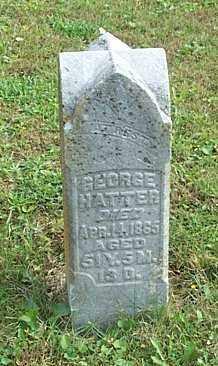 HATTER, GEORGE - Highland County, Ohio | GEORGE HATTER - Ohio Gravestone Photos