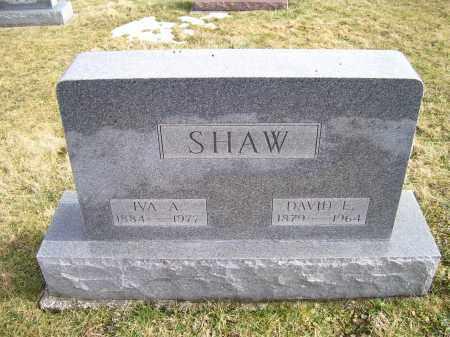 SHAW, IVA A. - Highland County, Ohio | IVA A. SHAW - Ohio Gravestone Photos