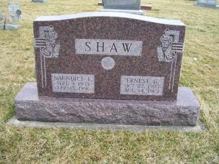 SHAW, NAUNDICE E. - Highland County, Ohio   NAUNDICE E. SHAW - Ohio Gravestone Photos