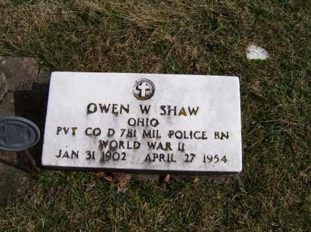 SHAW, OWEN W. - Highland County, Ohio | OWEN W. SHAW - Ohio Gravestone Photos