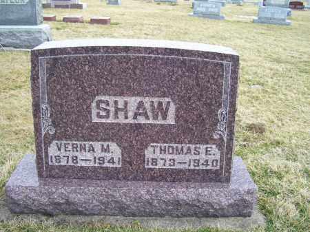 SHAW, THOMAS E. - Highland County, Ohio | THOMAS E. SHAW - Ohio Gravestone Photos