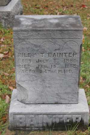 BAINTER, RILEY T. - Hocking County, Ohio   RILEY T. BAINTER - Ohio Gravestone Photos