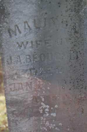 BEOUGHER, MALINDA - Hocking County, Ohio   MALINDA BEOUGHER - Ohio Gravestone Photos