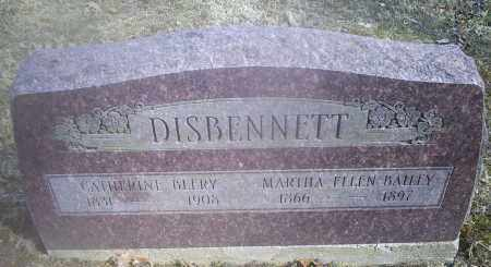 BAILEY DISBENNETT, MARTHA ELLEN - Hocking County, Ohio | MARTHA ELLEN BAILEY DISBENNETT - Ohio Gravestone Photos