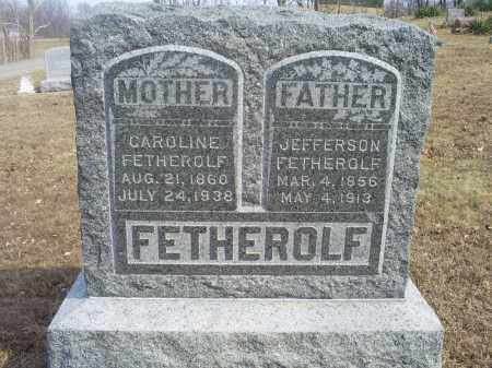 FETHEROLF, JEFFERSON - Hocking County, Ohio | JEFFERSON FETHEROLF - Ohio Gravestone Photos