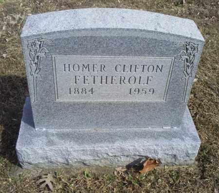 FETHEROLF, HOMER CLIFTON - Hocking County, Ohio | HOMER CLIFTON FETHEROLF - Ohio Gravestone Photos