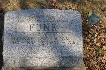 FUNK, HANNAH - Hocking County, Ohio | HANNAH FUNK - Ohio Gravestone Photos