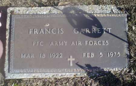 GARRETT, FRANCIS - Hocking County, Ohio | FRANCIS GARRETT - Ohio Gravestone Photos