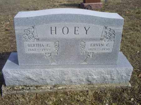 HOEY, BERTHA G. - Hocking County, Ohio | BERTHA G. HOEY - Ohio Gravestone Photos