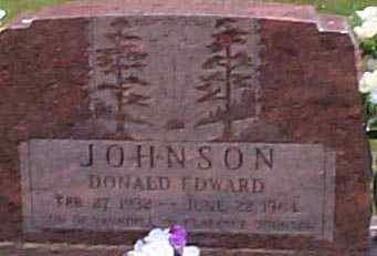 JOHNSON, DONALD EDWARD - Hocking County, Ohio | DONALD EDWARD JOHNSON - Ohio Gravestone Photos