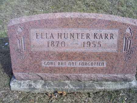 HUNTER KARR, ELLA - Hocking County, Ohio | ELLA HUNTER KARR - Ohio Gravestone Photos