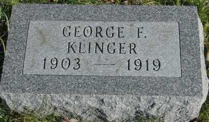 KLINGER, GEORGE F - Hocking County, Ohio | GEORGE F KLINGER - Ohio Gravestone Photos