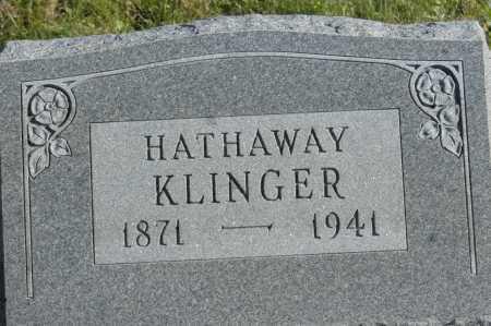 KLINGER, HATHAWAY - Hocking County, Ohio   HATHAWAY KLINGER - Ohio Gravestone Photos