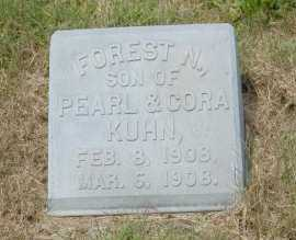 KUHN, FOREST N. - Hocking County, Ohio | FOREST N. KUHN - Ohio Gravestone Photos