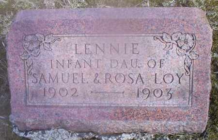 LOY, LENNIE - Hocking County, Ohio | LENNIE LOY - Ohio Gravestone Photos
