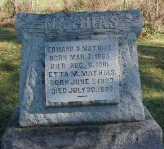MATHIAS, ETTA M. - Hocking County, Ohio | ETTA M. MATHIAS - Ohio Gravestone Photos