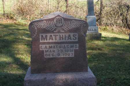 MATHIAS, L. A. - Hocking County, Ohio | L. A. MATHIAS - Ohio Gravestone Photos