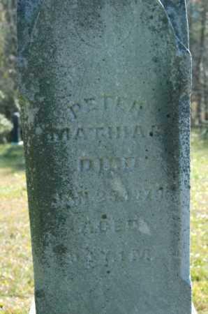MATHIAS, PETER - Hocking County, Ohio   PETER MATHIAS - Ohio Gravestone Photos