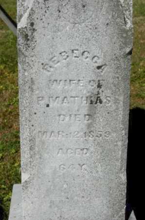 MATHIAS, REBECCA - Hocking County, Ohio | REBECCA MATHIAS - Ohio Gravestone Photos