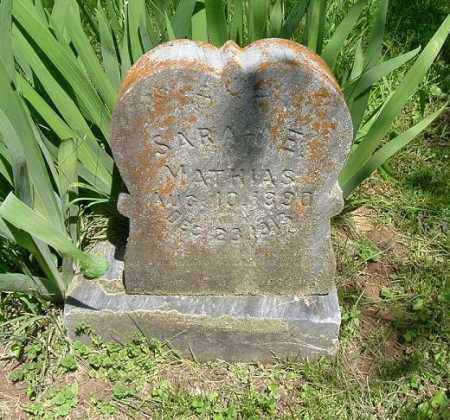 MATHIAS, SARAH E. - Hocking County, Ohio | SARAH E. MATHIAS - Ohio Gravestone Photos