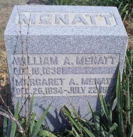 MCNATT, MARGARET A. - Hocking County, Ohio | MARGARET A. MCNATT - Ohio Gravestone Photos