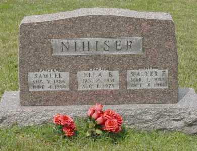 NIHISER, WALTER E. - Hocking County, Ohio | WALTER E. NIHISER - Ohio Gravestone Photos