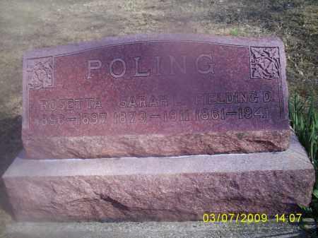 POLING, ROSETTA - Hocking County, Ohio | ROSETTA POLING - Ohio Gravestone Photos
