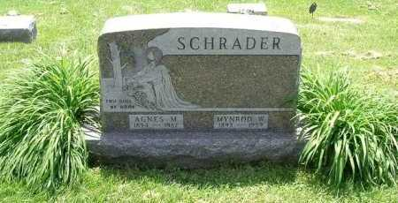 RIGGS SCHRADER, AGNES MAYBELLE - Hocking County, Ohio | AGNES MAYBELLE RIGGS SCHRADER - Ohio Gravestone Photos