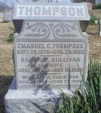 THOMPSON, EMANUEL C. - Hocking County, Ohio | EMANUEL C. THOMPSON - Ohio Gravestone Photos