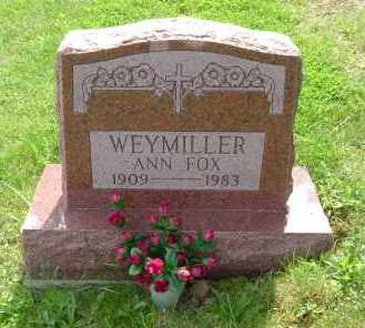 WEYMILLER, ANN - Hocking County, Ohio | ANN WEYMILLER - Ohio Gravestone Photos