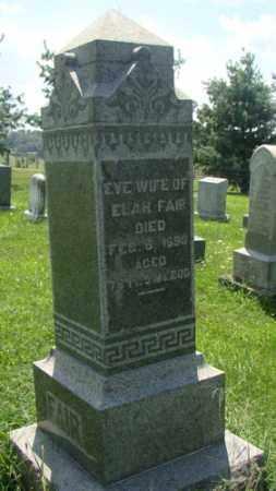 FAIR, EVE - Holmes County, Ohio   EVE FAIR - Ohio Gravestone Photos