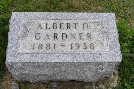 GARDNER, ALBERT D. - Holmes County, Ohio   ALBERT D. GARDNER - Ohio Gravestone Photos