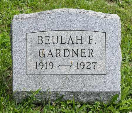 GARDNER, BEULAH FAY - Holmes County, Ohio   BEULAH FAY GARDNER - Ohio Gravestone Photos