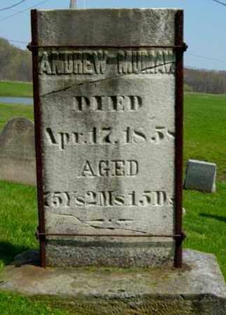 MUMAW, ANDREW - Holmes County, Ohio   ANDREW MUMAW - Ohio Gravestone Photos