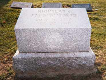 GIFFORD, NICHOLAS J. - Huron County, Ohio | NICHOLAS J. GIFFORD - Ohio Gravestone Photos