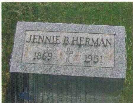 ZIPFEL HERMAN, JENNIE BARBARA - Huron County, Ohio | JENNIE BARBARA ZIPFEL HERMAN - Ohio Gravestone Photos