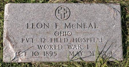 MCNEAL, LEON F - Huron County, Ohio | LEON F MCNEAL - Ohio Gravestone Photos